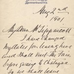 Joseph Jefferson 1901 Letter from Buzzards Bay 1