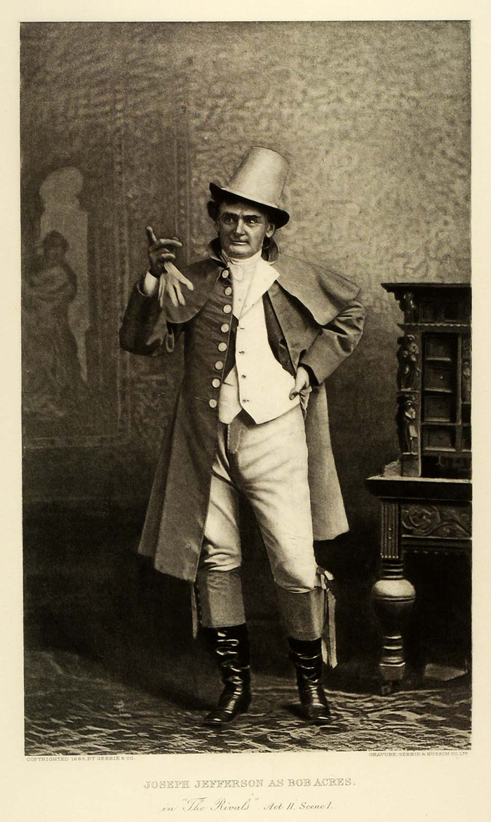 Joseph Jefferson in Bob Acre's Comedy Theatre 1