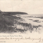 1906 POSTCARD WHITE HORSE BEACH AND ROCKY POINT, MASSACHUSETTS
