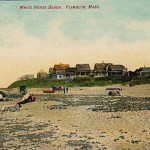 PLYMOUTH MA - MANOMET ~ WHITE HORSE BEACH ~ COTTAGES ~ HORSE & BUGGY ~ C 1910