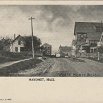 PLYMOUTH MA - MANOMET ~ WHITE HORSE BEACH - HOTEL CRESCENT - c 1905