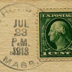 White Horse Beach PO Stamp July 23, 1913