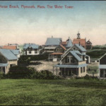 White Horse Beach Plymouth MA Homes & Water Tower c1910